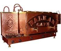 Dörtlü Bakır Çay Kazanı - Balkan Cafe
