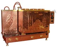 Üçlü Bakır Çay Kazanı - Sultanahmet Camii