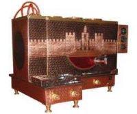 Üçlü Önden Ocaklı Diyarbakır Kalesi desenli Çay Ocağı Kazanı